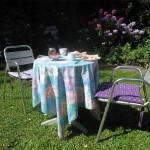 Ontbijten in de tuin van Het Morgenland